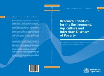 8. Environment, agriculture and infectious diseases of poverty