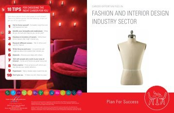 Fashion and Interior Design Industry Sector Brochure