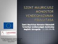 Szent Mauriciusz Monostor vendégházának felújítása - Bakonyért ...