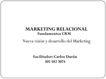 MARKETING RELACIONAL Fundamentos CRM