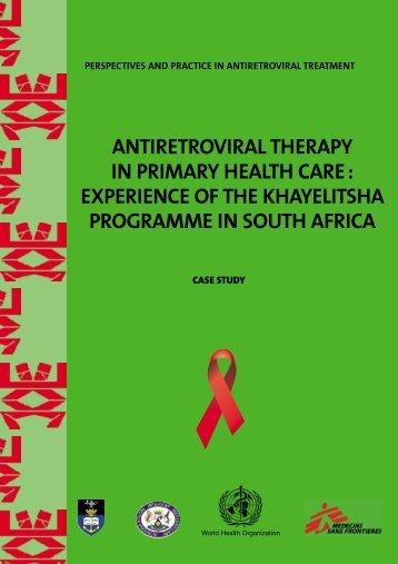 Antiretroviral therapy in primary health care - World Health ...