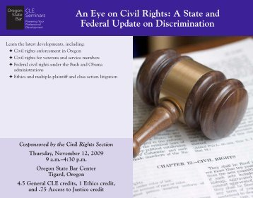 An Eye on Civil Rights - Oregon State Bar CLE Seminars