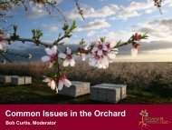 Common Issues in the Orchard - Almond Board of California