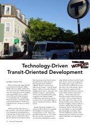 Technology-Driven Transit-Oriented Development