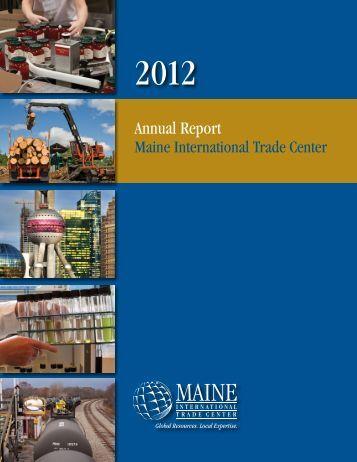 2012 Annual Report - Maine International Trade Center