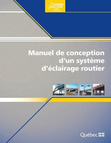 Manuel de conception d'un système d'éclairage routier - Moodle