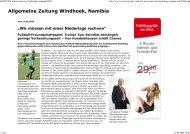 Allgemeine Zeitung Windhoek, Namibia