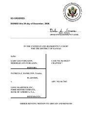 06-07063 Hamilton v. Bank of America, N.A. et al - District of Kansas