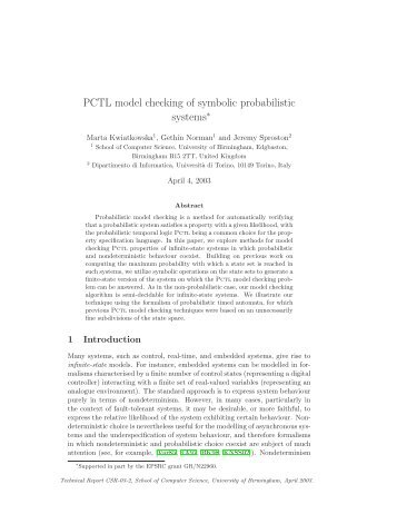 PCTL model checking of symbolic probabilistic systems