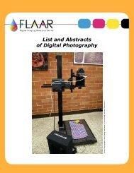 List and Abstracts of Digital Photography