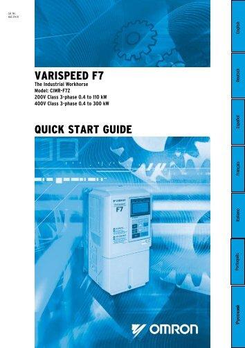 VARISPEED F7 QuIck START GuIDE - Carol Automatismos ...