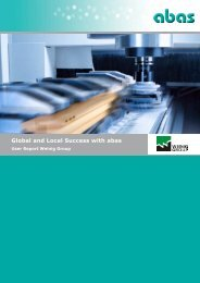 Global and Local Success with abas - ABAS Software AG