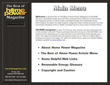 The Best of Home Power Magazine - Volume 1 - Equal Parenting-BC