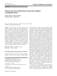 Memory processes during sleep: beyond the standard consolidation ...
