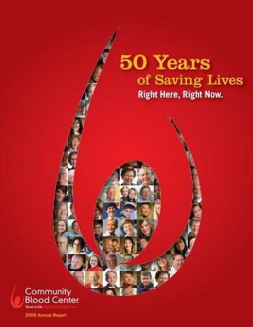 50 Years of Saving Lives - Community Blood Center