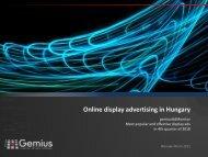 Online display advertising in Hungary - Gemius