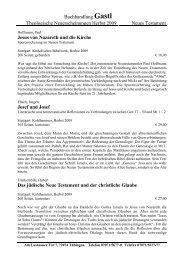 Buchhandlung Gastl Theologische Neuerscheinungen Herbst 2009 ...