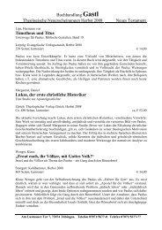 Buchhandlung Gastl Theologische Neuerscheinungen Herbst 2008 ...