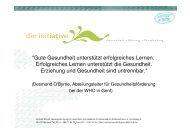 Information, Schulung und Qualifizierung von Schlüsselpersonen bzw.