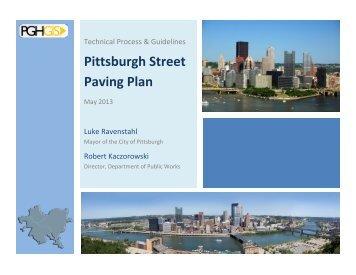 Pittsburgh Street Paving Plan - City of Pittsburgh