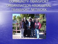 Aboriginal Transport Network - NCOSS