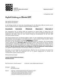 Herzliche Einladung zum Bläsertest 2009 - Luzerner Kantonal ...
