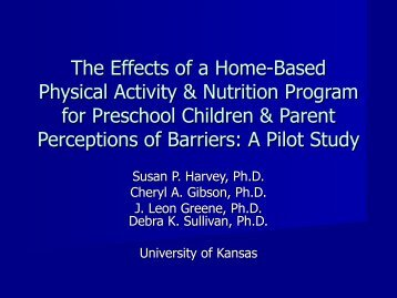 Effects of a Home-Based Physical Activity and Nutrition Program for ...