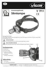 Stirnlampe V 1911 - Produktinfo.conrad.com
