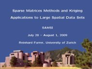 Sparse Matrices Methods and Kriging Applications to Large ... - IMAGe