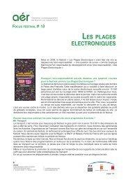 Focus #13 : Les plages electroniques (pdf) - Arcade PACA