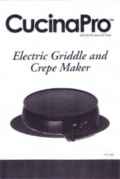 CucinaPro Electric Griddle and Crepe Maker - Model 1448