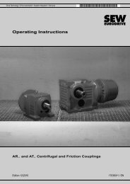 Operating Instructions – AR.. and AT.. Centrifugal ... - SEW-Eurodrive