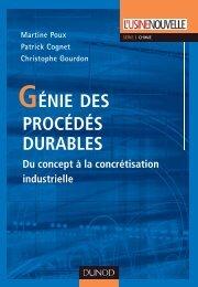 GÉNIE DES PROCÉDÉS DURABLES - Dunod