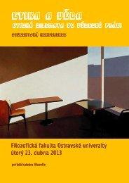 Pozvánka ke stažení - Filozofická fakulta