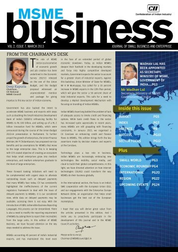 Journal of Small Business and Enterprise - March, 2013 - CII