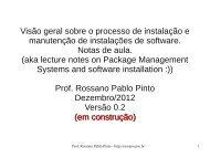 Instalação de Software - Rossano Pablo Pinto's Home Page