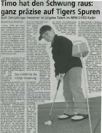 Imo t den Sc ung raus: ganz pr - Golf Club Teutoburger Wald