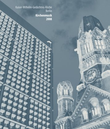 Flyer Kirchenmusik Kaiser-Wilhelm-Gedächtnis-KIrche Berlin