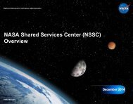 NASA Shared Services Center - NSSC Public Search Engine