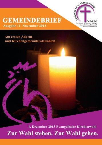 Gemeindebrief November 2013 - evangelisch-in-schoental.de