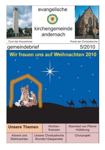 gemeindebrief 5/2010 kirchengemeinde ... - ev-kirche-andernach.de