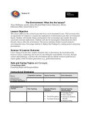 The Environment: What Are the Issues? - Wolf Creek Public Schools