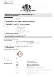 Veiligheidsinfoblad - BPG Bouwhof Groothandel
