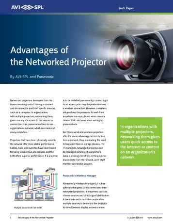 Advantages of the Networked Projector - AVI-SPL