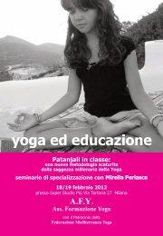 yoga ed educazione - Federazione Mediterranea Yoga