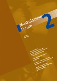 Muskuloskeletalt Forum - 2/2004 (pdf) - Fagforum for ...