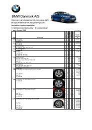 Prisliste ekstraudstyr BMW 1-serie Coupé (pdf) - BMW Danmark