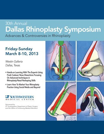 2013 Rhinoplasty Symposium Brochure - Dallas Rhinoplasty ...