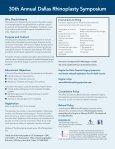 2013 Rhinoplasty Symposium Brochure - Dallas Rhinoplasty ... - Page 2