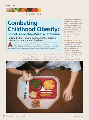 Combating childhood obesity